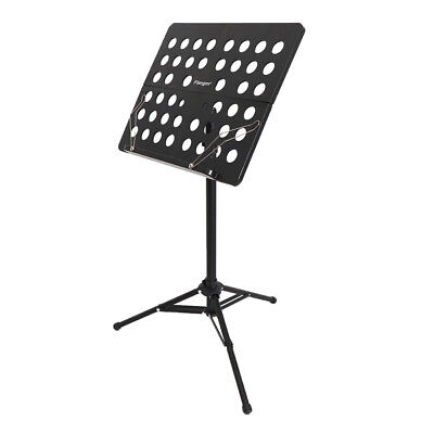 Black Alloy Orchestral Music Stand Music Score Music Note Holder Stand