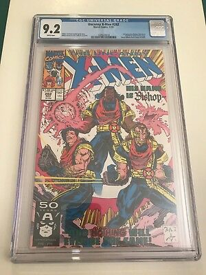 Uncanny X-men 282 CGC 9.2 NM- White pages 1991 1st Bishop Marvel Byrne Portacio