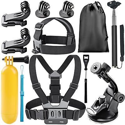 Neewer 8-In-1 Accessory Kit for GoPro Hero 6 5 4 3+ 3 2 1 Hero Session 5 Black