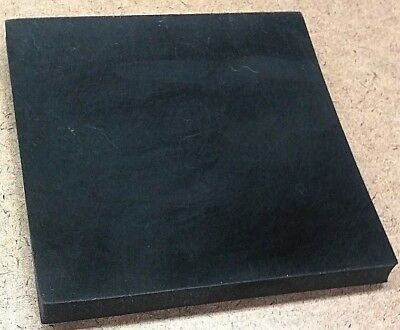 "Neoprene Rubber Sheet Solid 1/2""Thk x 12"" x 12"" Square Ft Pad  60 Duro Std"