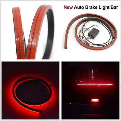 DC12V 100cm Car Rear Dynamic Streamer Brake Light Flowing LED Driving Lamp Strip