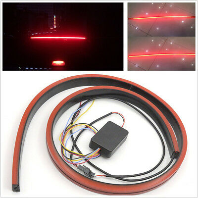 DC12V 100cm Red LED Car SUV Flexible Flowing LED Brake Light Driving Lamp Strip