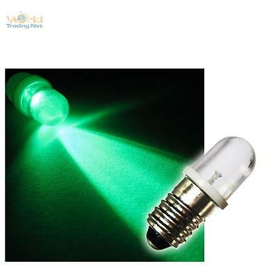 10 E10 LÁMPARAS LED Base De Tornillo Verde 12v LEDS BOMBILLA TOP