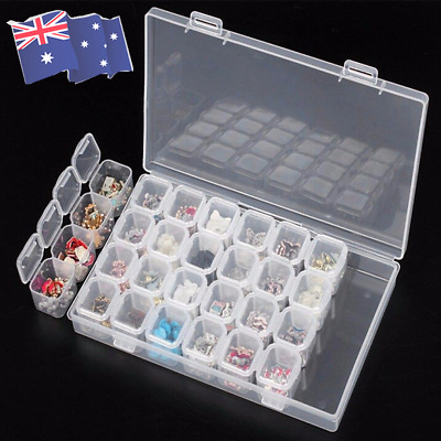 28 Slots Diamond Painting Accessories Box Embroidery Case Geometric Holder Kit