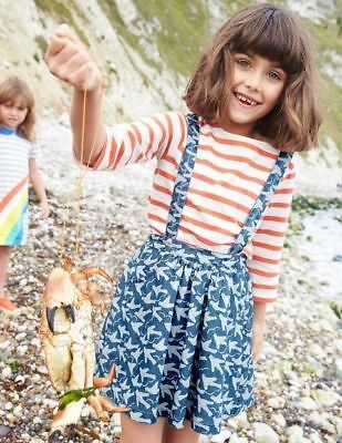 Mini Boden 'Dungaree' Skirt in DENIM (6-7Y)