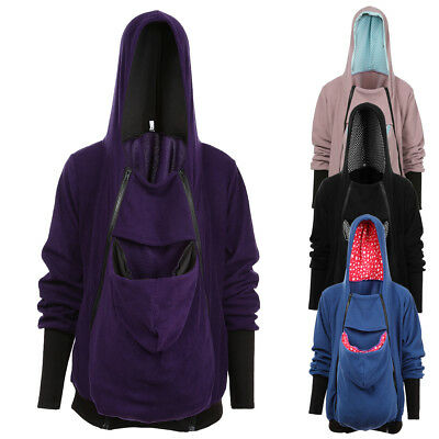Maternity Hoodies Outwear Pregnant Women Clothes Baby Carrier Kangaroo Coat XW