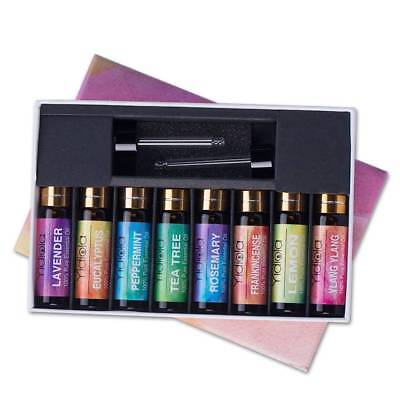 Yidiola Top 8 Set Essential Oils 100% Pure Aromatherapy Therapeutic Oil AU