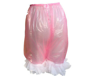 1* pcs New Adult  Incontinence with White  lace, PVC pants.Color Pink   #P011A-5