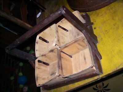antique wooden berry carrier w/berry boxes