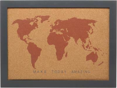 World map pin board bucket list cork home display hanging picture world map pin board bucket list cork home display hanging picture notice frame gumiabroncs Image collections
