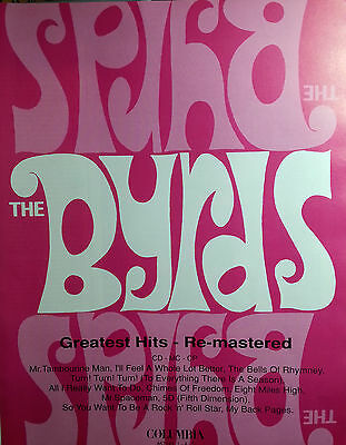 The Byrds Advert Poster Greatest Hits Original Not Reprint Very Rare