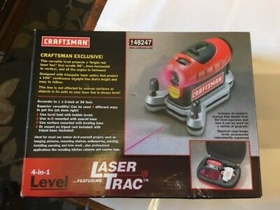craftsman 4 in 1 level with laser trac new in box with case and rh picclick com Craftsman 360 Degree Level System Craftsman Rotary Level
