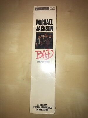 "Michael Jackson SEALED BAD Special 12"" 5 Track Cassette Single Long Box No promo"