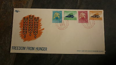 Old Indonesia Stamp Issue Fdc, 1963 Freedom From Hunger Set Of 4 Stamps