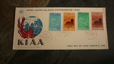 Old Indonesia Stamp Issue Fdc, 1965 Afro Asian Islamic Conference Kiaa 4 Stamp 1