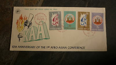 Old Indonesia Stamp Issue Fdc, 1965 Afro Asian Islamic Conference Kiaa 4 Stamp 2