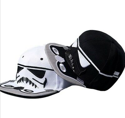 Men Star Wars Stormtrooper Snapback Baseball Cap Hip Hop Flat Sport Hat Sun Caps