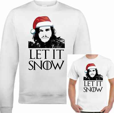 GAME OF THRONES Xmas Jumper Let It Snow Sweatshirt T-Shirt Mens Funny Ugly TOP