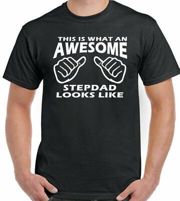 This Is What An Awesome Stepdad Looks Like Mens Funny T-Shirt Step Dad