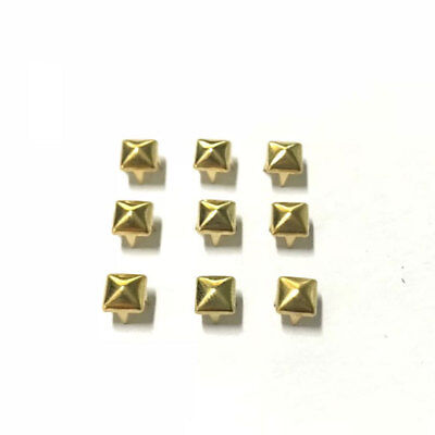 300 x Square Studs Spots Rivet Spikes Punk Nail for Jacket Jeans Shoes 4mm