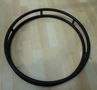 A pair of 24 inch anodised wheelchair push rims