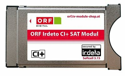 Orf Irdeto CI + Module - ORF Ice Card to receive ORF ATV and Austrian Brand New!