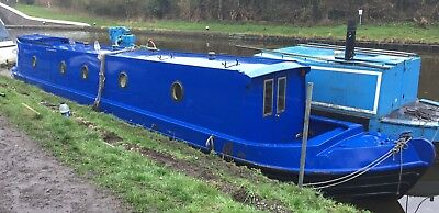 London 45' Foot Steel Narrowboat 2009 Project Boat Needs Work Barge Salvage Live