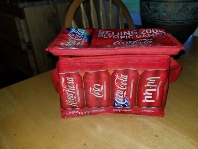 Beijing 2008 Olympic Games Cooler Bag Coca-Cola Coke Can Bag New Collectable