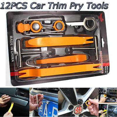 12pcs Universal Car Panel Dash Removal Open Pry Tools Door Radio Trim Moulding