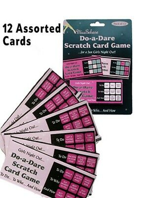 Hen Party Do a Dare Scratch Card Game - Adult Funny Hen Night Party Accessories