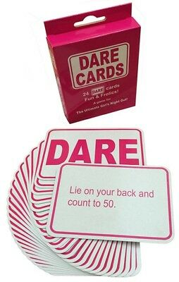 Hen Party Dare Cards for Girls- Funny Hen Night Ladies Party Game Accessories