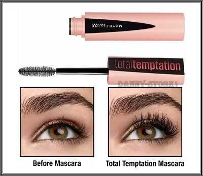 a53c895c906 MAYBELLINE TOTAL TEMPTATION Mascara Very Black Volume Lashes 8.6 ml ...