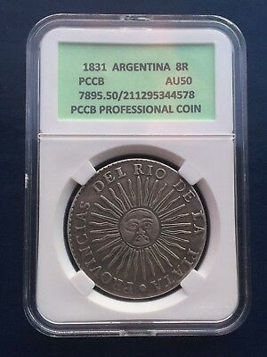 coin 8 reals 1831 Argentina