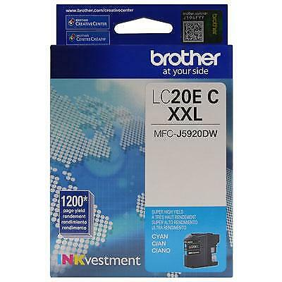 Brother LC20EC INKvestment 1200 Page Super High-Yield Cyan Ink Cartridge