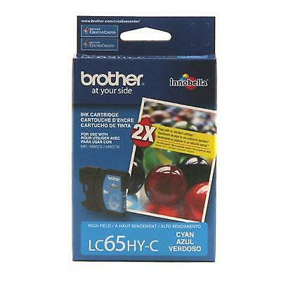 Brother LC65HYC 750 Pages High-Yield Cyan Ink Cartridge