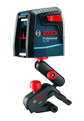 Bosch GLL 2 30 ft. Self-Leveling Cross-Line Laser Level with Clamping Mount 4462