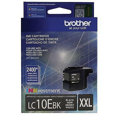 Brother LC10EBK INKvestment 2400 Page Super High-Yield Black Ink Cartridge