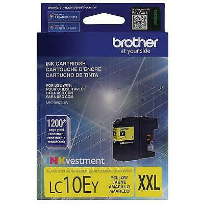 Brother LC10EY INKvestment 1200 Page Super High-Yield Yellow Ink Cartridge