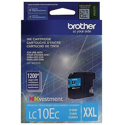 Brother LC10EC INKvestment 1200 Page Super High-Yield Cyan Ink Cartridge