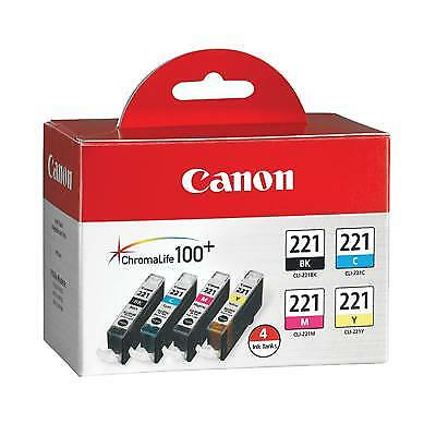 Canon Computer Systems - 2946B004 - 4 Color Pack Ink Tank CLI-221