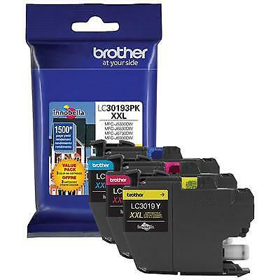 Brother Printer LC30193PK Super High Yield XXL 3 Pack Ink Cartridges- 1 Ea: Cyan