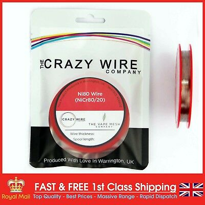 36 AWG (0.13mm) Nichrome (Ni80) Resistance Wire 500ft Spool by Crazy Wire Co