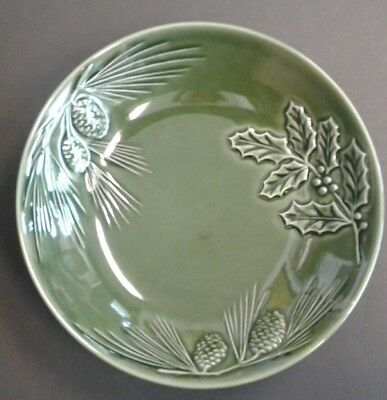"""Lenox """"Rustic Pine"""" Green Soup / Pasta Bowl  9"""", Lightly Used"""
