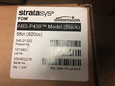 Brand New Sealed FDM Machine 3D Printer ABS BLACK Material  Dimension