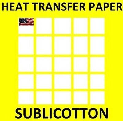 Sublimation Printing for Light Cotton Fabric / Yellow Line 100 Sheets -  8.5x11