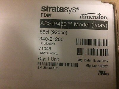 Brand New Sealed FDM Machine 3D Printer ABS IVORY Material  Dimension
