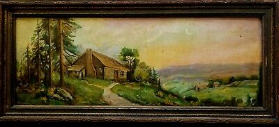 Antique Oil painting landscape signed and dated Wachtel 1830 with original frame