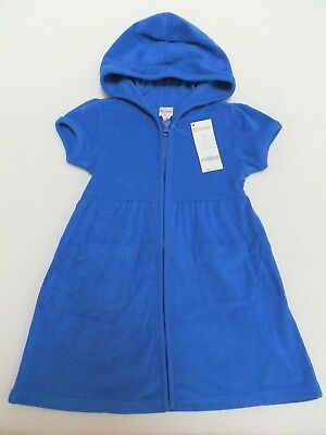 NEW Gymboree Girls Beach Pool Terry Swimsuit Cover Up sz 4 5/6 7/8 10/12 Blue