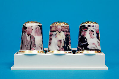 Prince Harry /&Meghan Royal Wedding Bride and Groom Free Box China Thimble