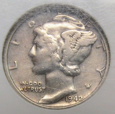 1942/41 Mercury Dime Over-date Variety